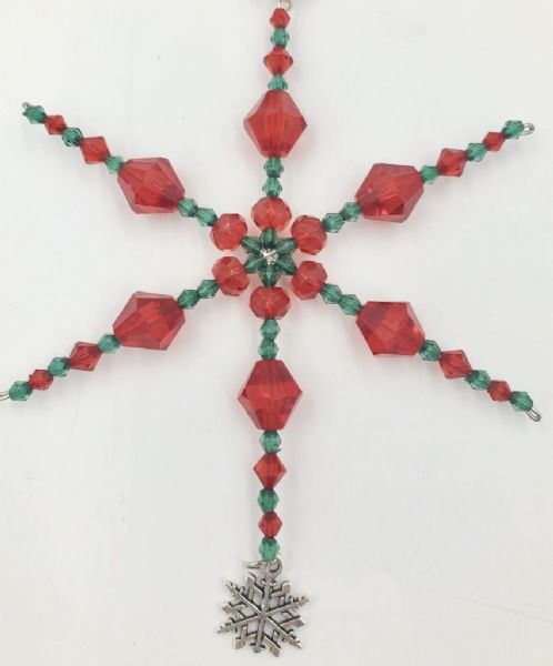 Snowflake decoration kit red & green ac005 Only £1.14